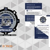 logo, compliment card & sticker RMS breedinvorm.nl
