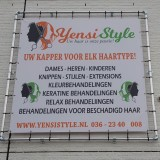 spandoek met frame yensi style breed in vorm